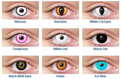 leće u boji, leće, crazy kontaktne leće, kontaktne leće u boji
