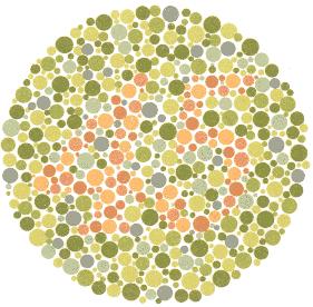 test za prepoznavanje boja, test vida boje