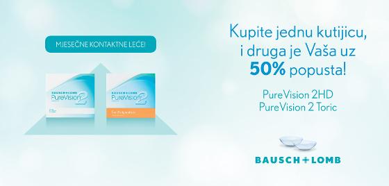 Purevison2 kontaktne lece cijena