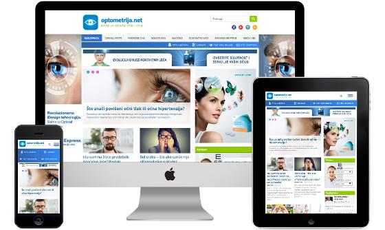 optometrija.net responsive design, optometrija net posjecenost