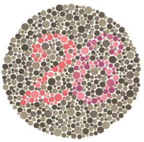 test vida boje, ishihara test daltonizam
