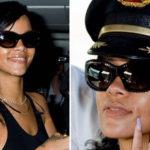 Rihanna nosi sunčane naočale Burberry BE 4120Q 3322/13