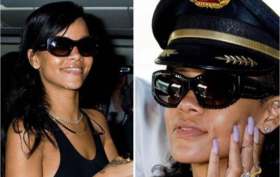 Rihanna, sunčane naočale, burberry