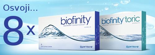 Nagradna igra: Osvoji kontaktne leće Biofinity