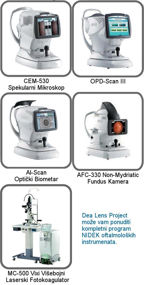 nidek oprema, nidek strojevi, nidek oftalmološka oprema