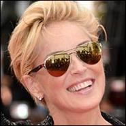 Sharon Stone naocale Ray Ban