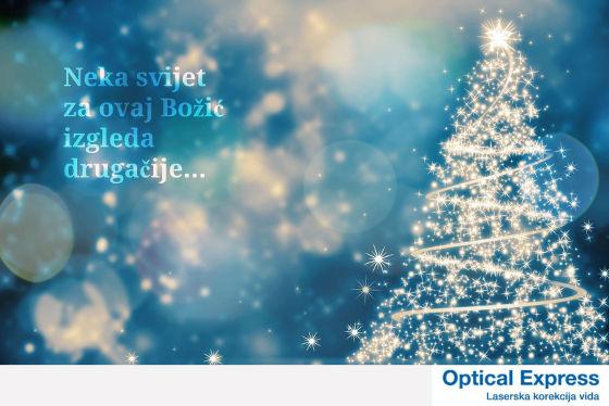 Optical Express Božična akcija, lasersko skidanje dioptrije akcija božić