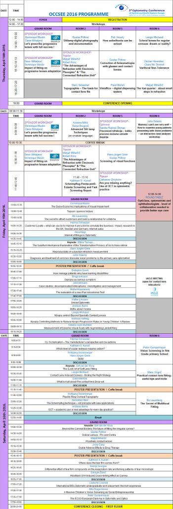 Za uvećanu verziju programa konferencije kliknite na sliku.