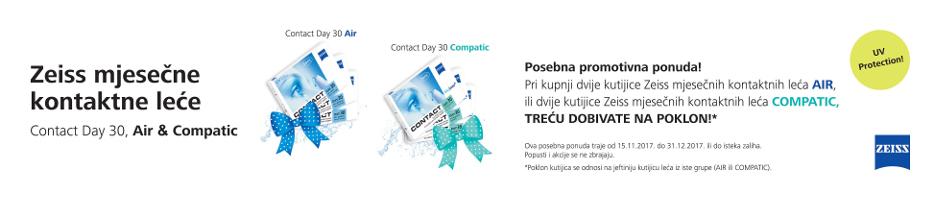 Zeiss mjesečne kontaktne leće Air i Compatic Akcija